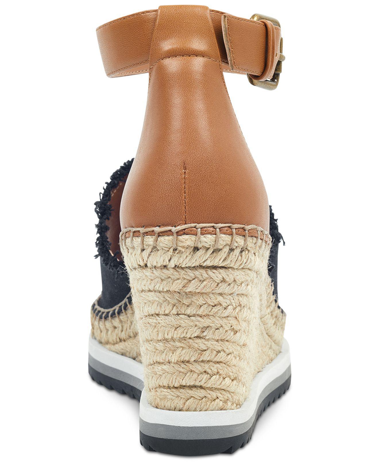 af80824e101 Tommy Hilfiger - Black Yavino Espadrille Platform Wedge Sandals - Lyst