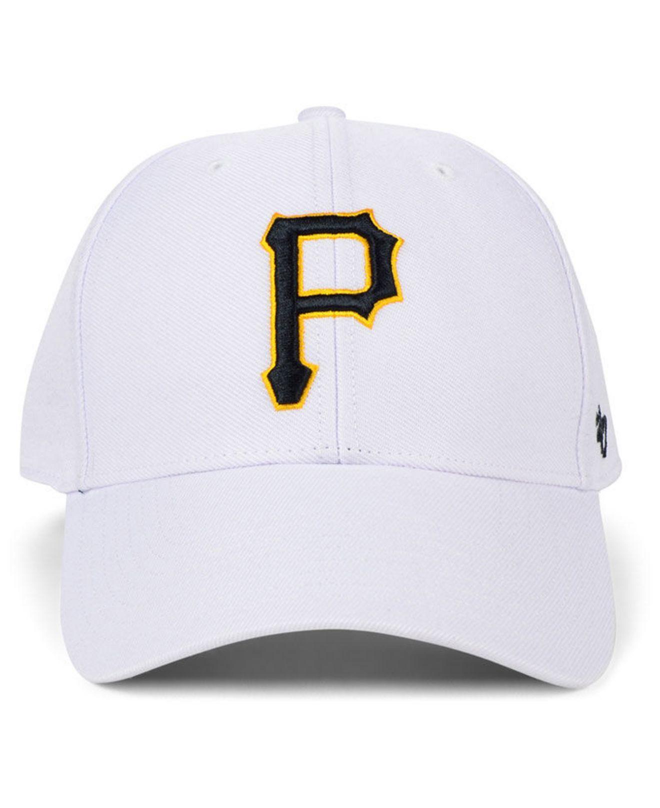 33051f079dc01 Lyst - 47 Brand Pittsburgh Pirates White Mvp Cap in White