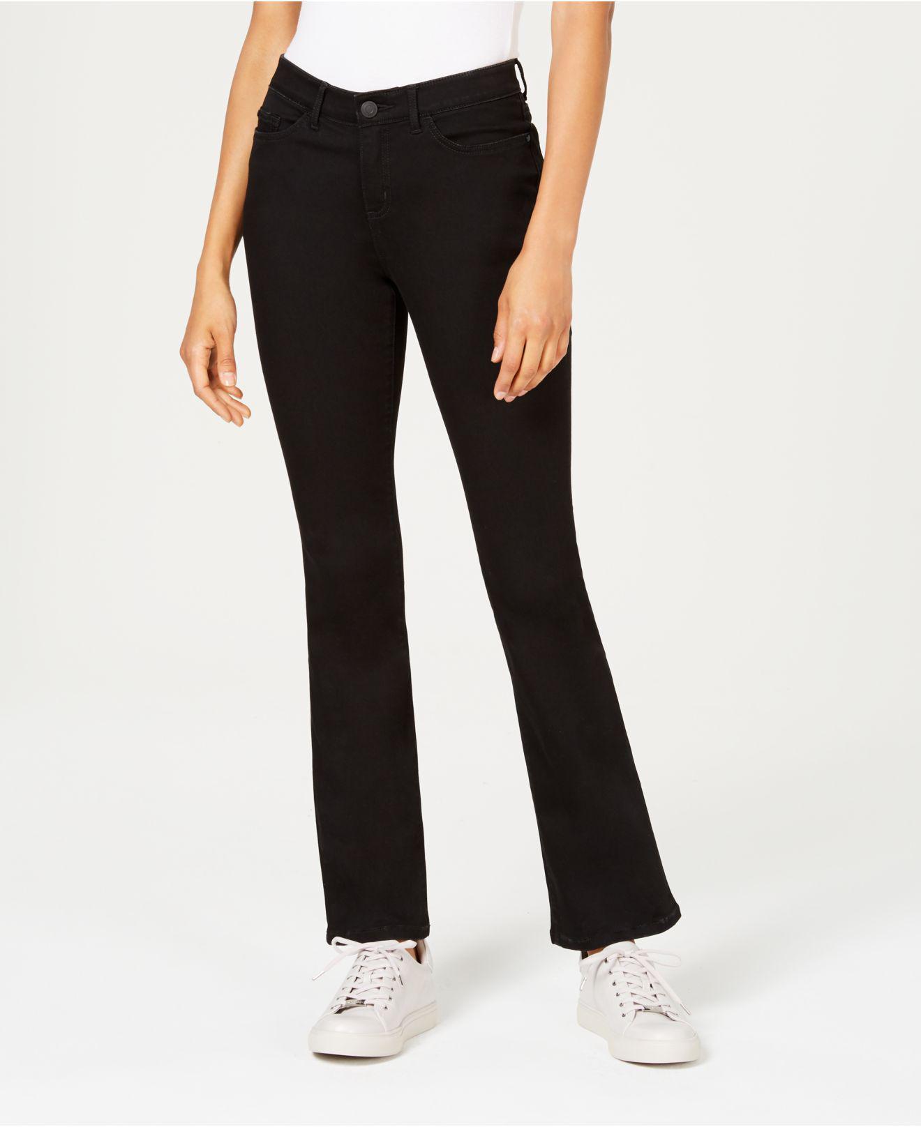 9b0dd09e Lyst - Lee Platinum Petite Flex Motion Bootcut Jeans in Black