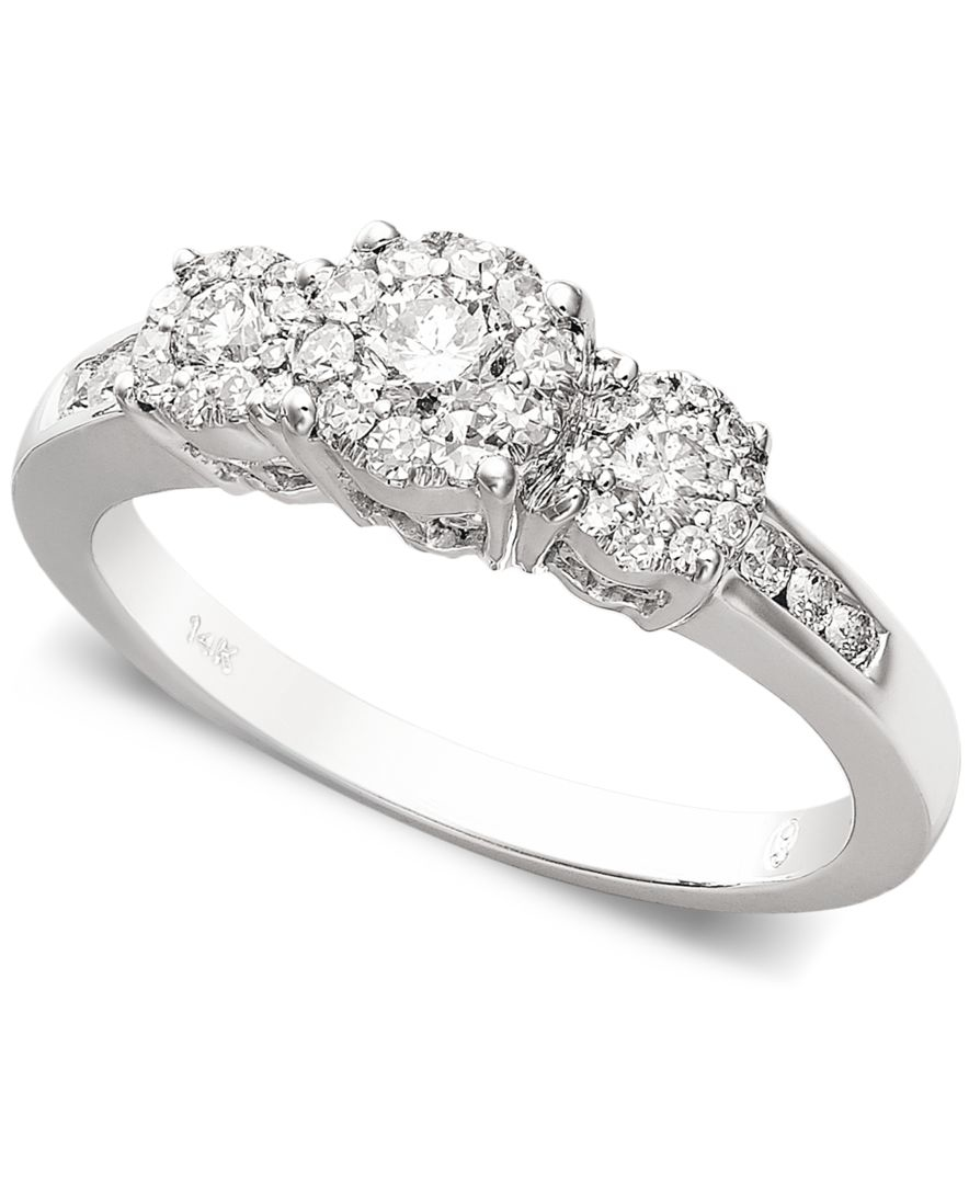 macy s engagement ring 1 2 ct t w in 14k gold