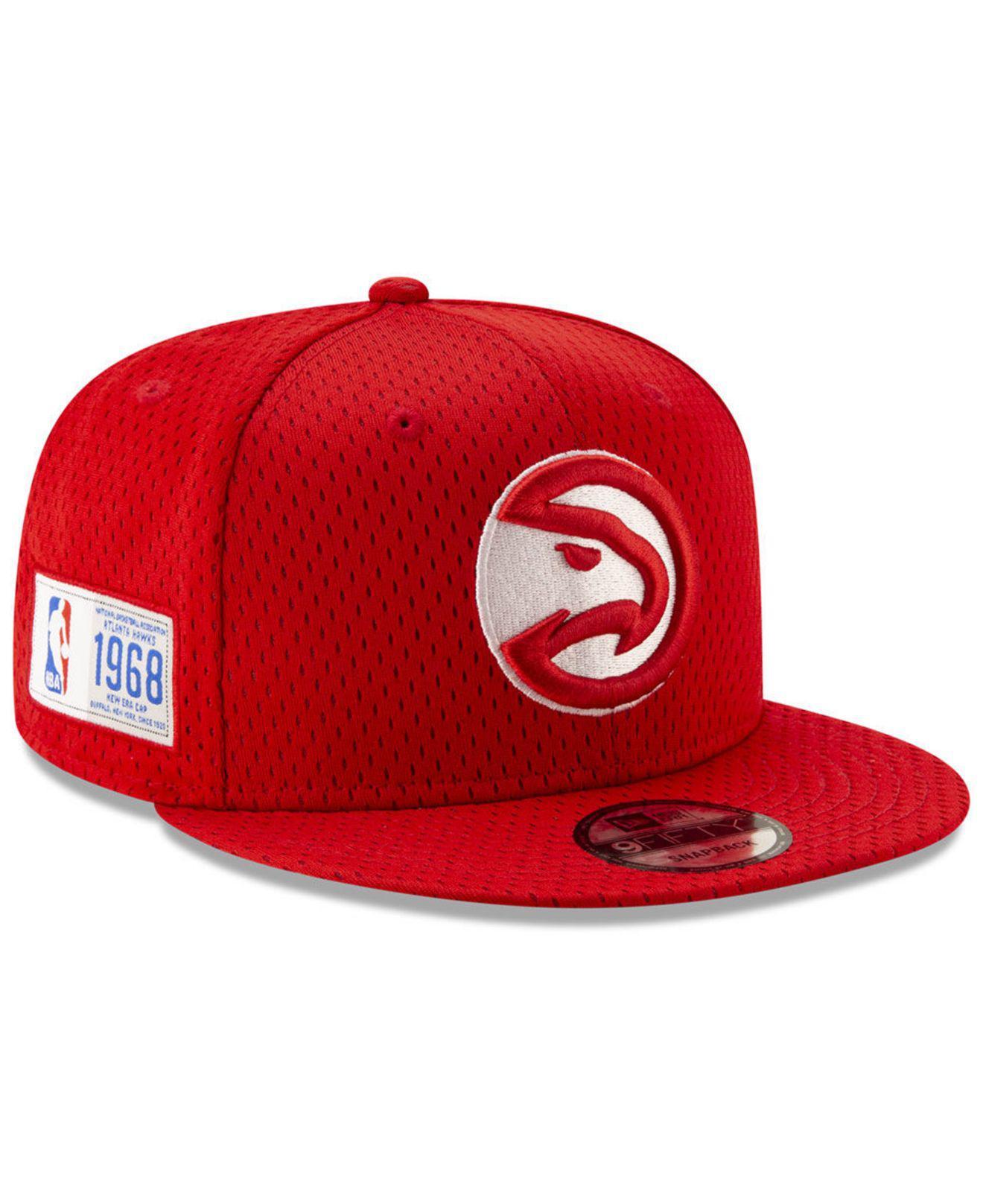 Lyst - KTZ Atlanta Hawks Jock Tag 9fifty Snapback Cap in Red for Men f4a919cb1586