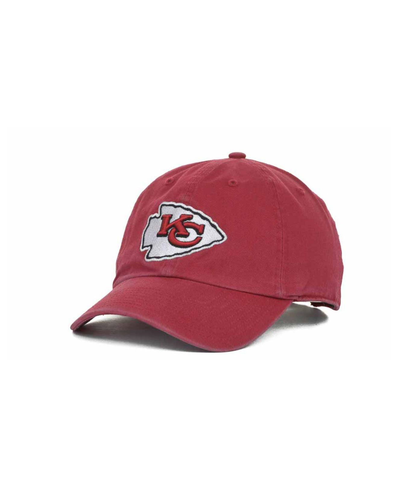c6c0be74a97 Lyst - 47 Brand Kansas City Chiefs Clean Up Cap in Red for Men