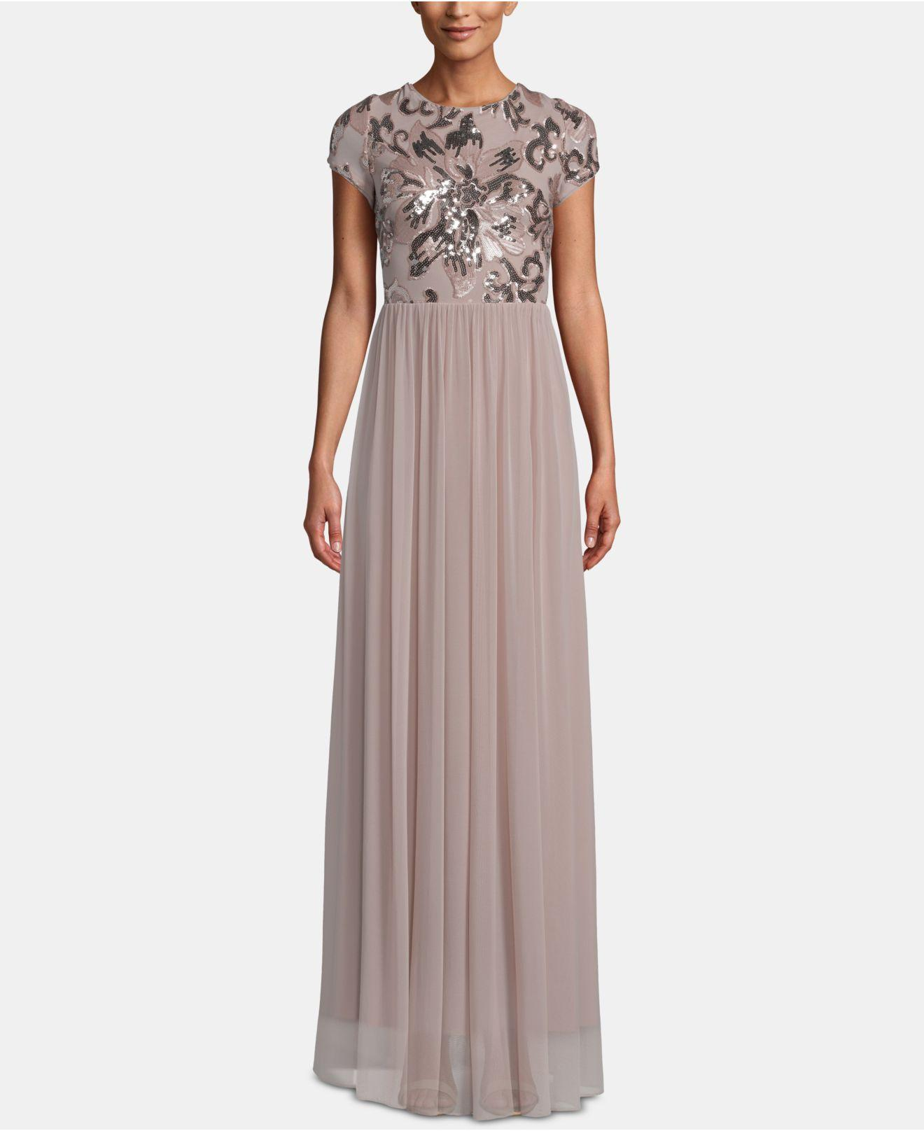 8cc0444ab6 Betsy   Adam. Women s Sequined Chiffon Gown