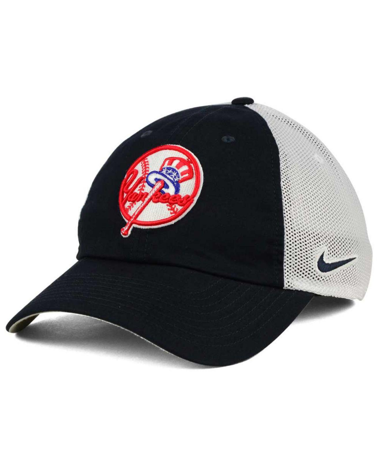 Lyst - Nike New York Yankees Dri-fit Mesh Swoosh Adjustable Cap in ... 0af4e31ad632