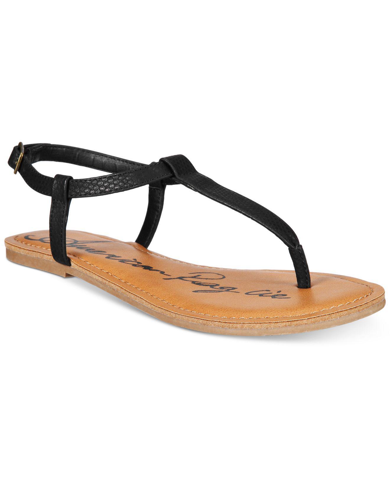 44baf529a650 Lyst - American Rag Krista T-strap Flat Sandals in Brown