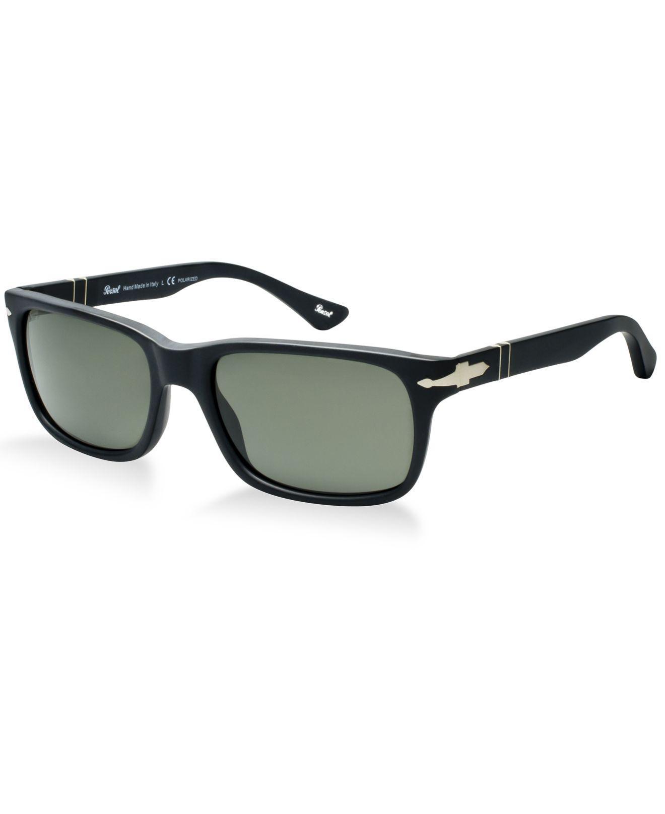 Persol Herren 0Po3048S 900058 58 Sonnenbrille, Schwarz (Black/Grey)