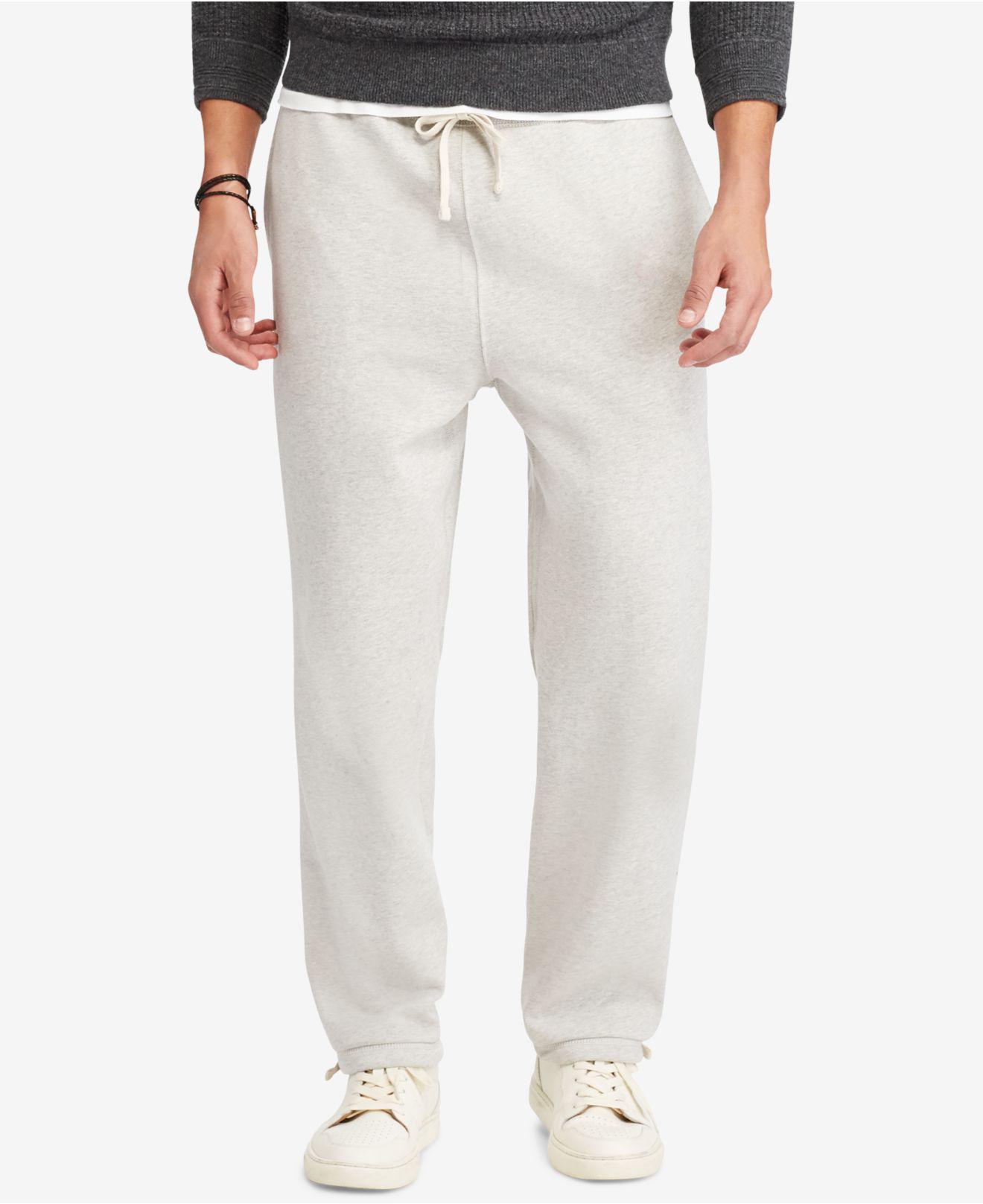 Lyst - Polo Ralph Lauren Fleece Pants in Natural for Men f33be1dfa