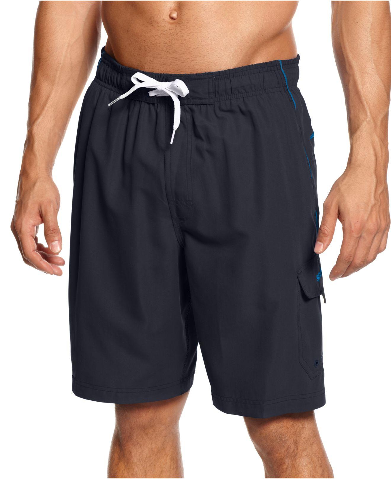 Speedo Swimwear Marina Swim Trunks In Black For Men Lyst