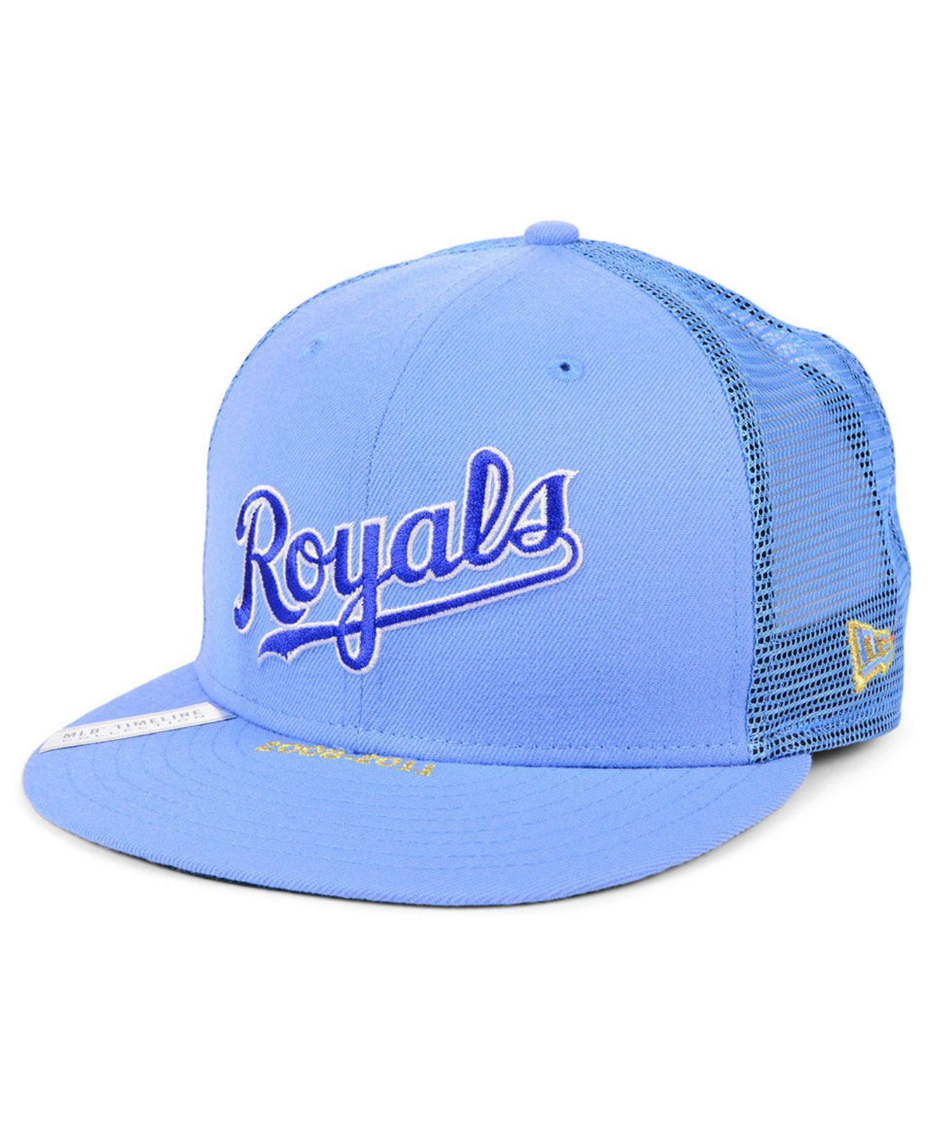 lowest price 21ca3 29f91 KTZ - Blue Kansas City Royals Timeline Collection 9fifty Cap for Men - Lyst.  View fullscreen