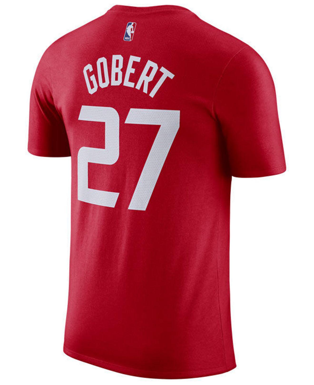 f4bfe0021 Lyst - Nike Rudy Robert Utah Jazz City Player T-shirt 2018 in Red for Men