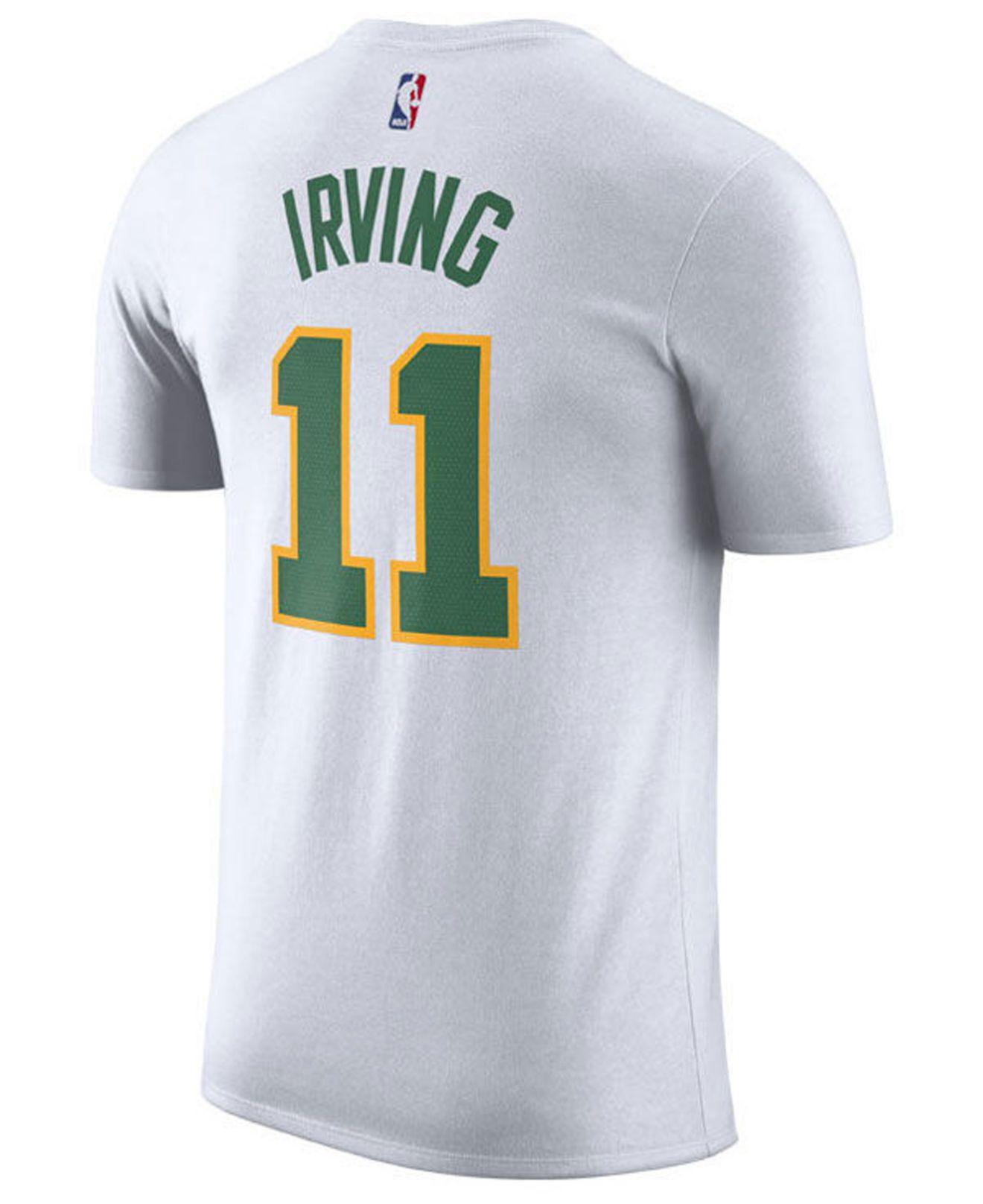 d2b531d9b Lyst - Nike Kyrie Irving Boston Celtics City Player T-shirt 2018 in White  for Men