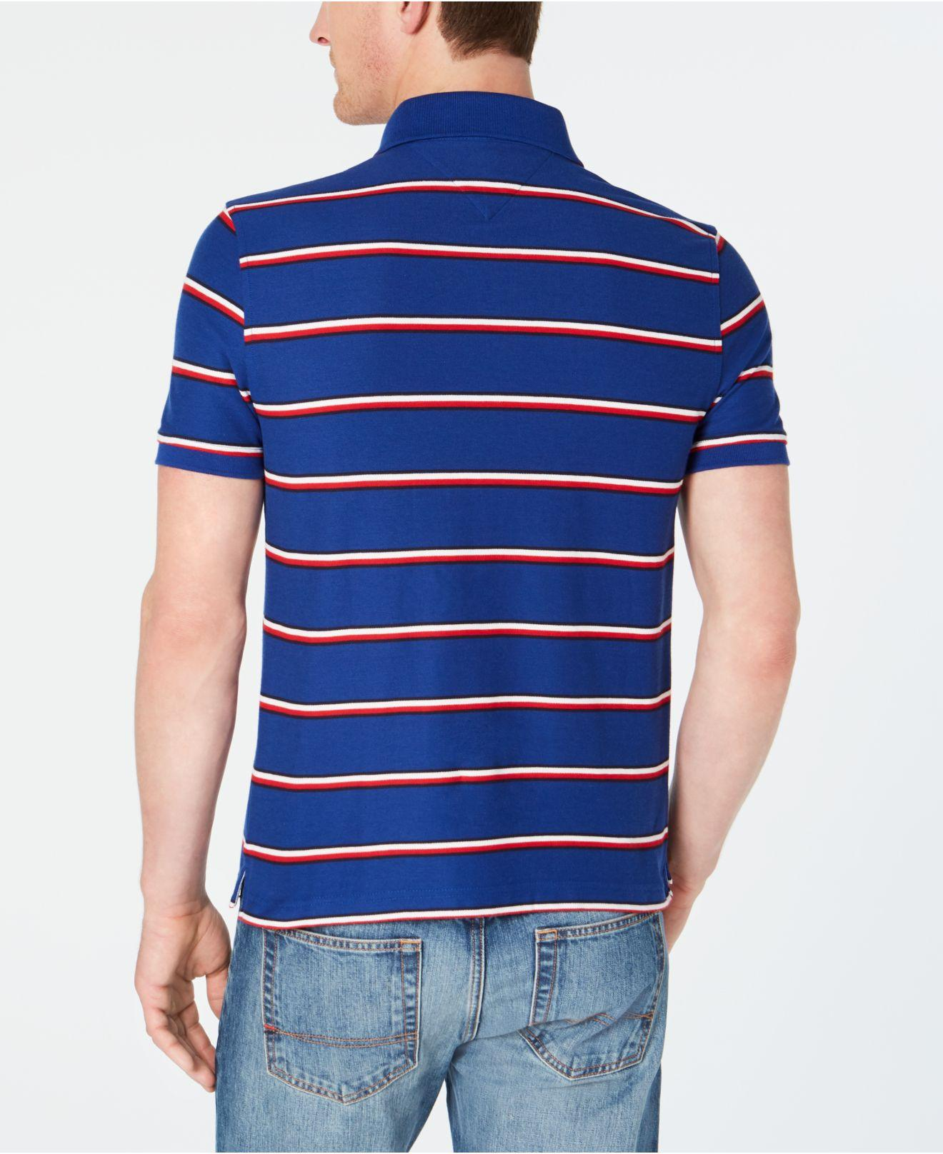 61c4bc51 Lyst - Tommy Hilfiger Marcus Striped Polo in Blue for Men