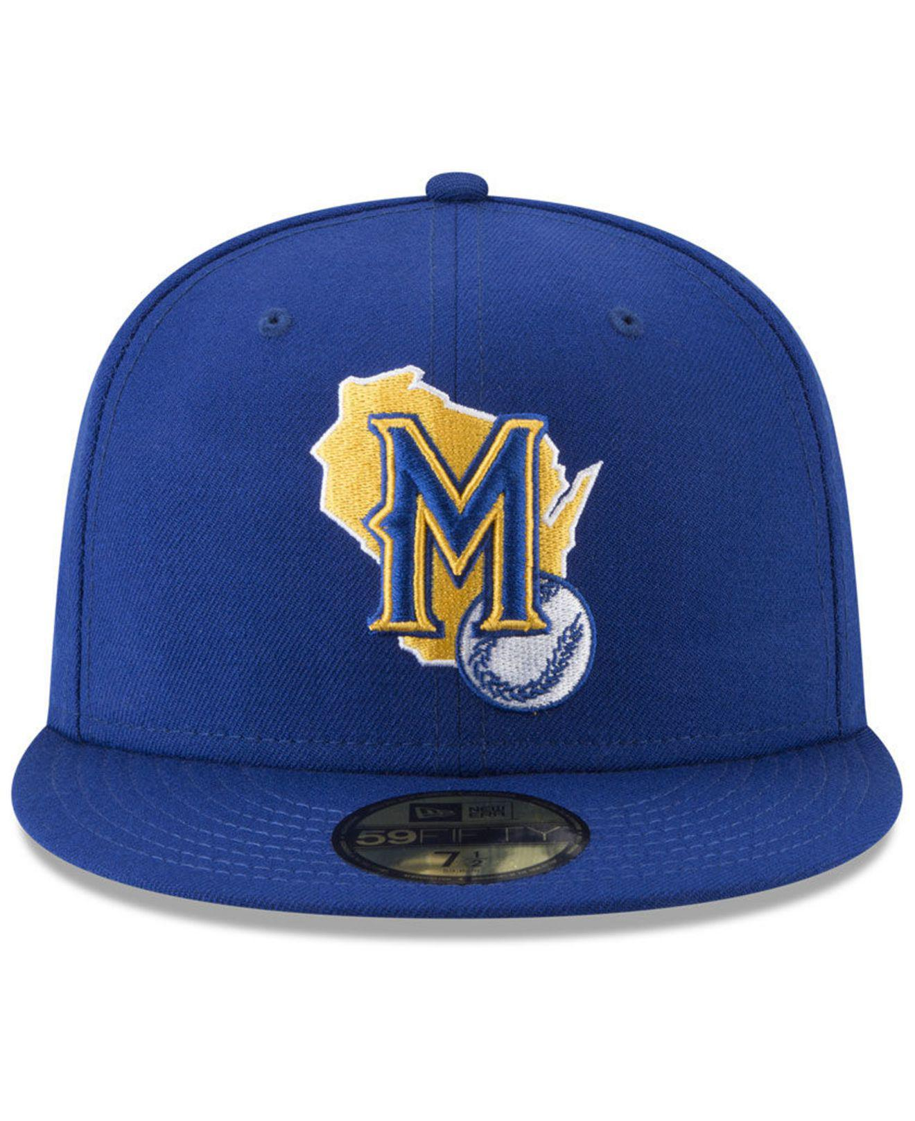 Lyst - Ktz Milwaukee Brewers Batting Practice Wool Flip 59fifty Fitted Cap  in Blue for Men 80c2eef2f6c7