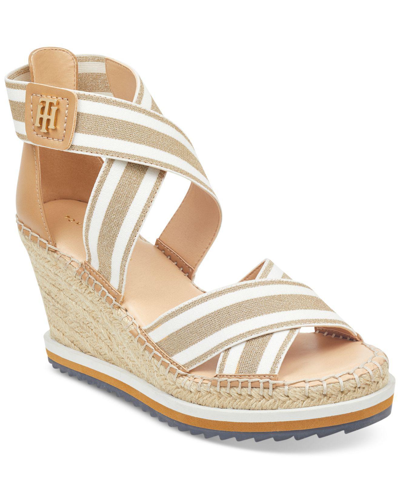 Tommy Hilfiger. Women's Metallic Yesia Espadrille Platform Wedge Sandals ...
