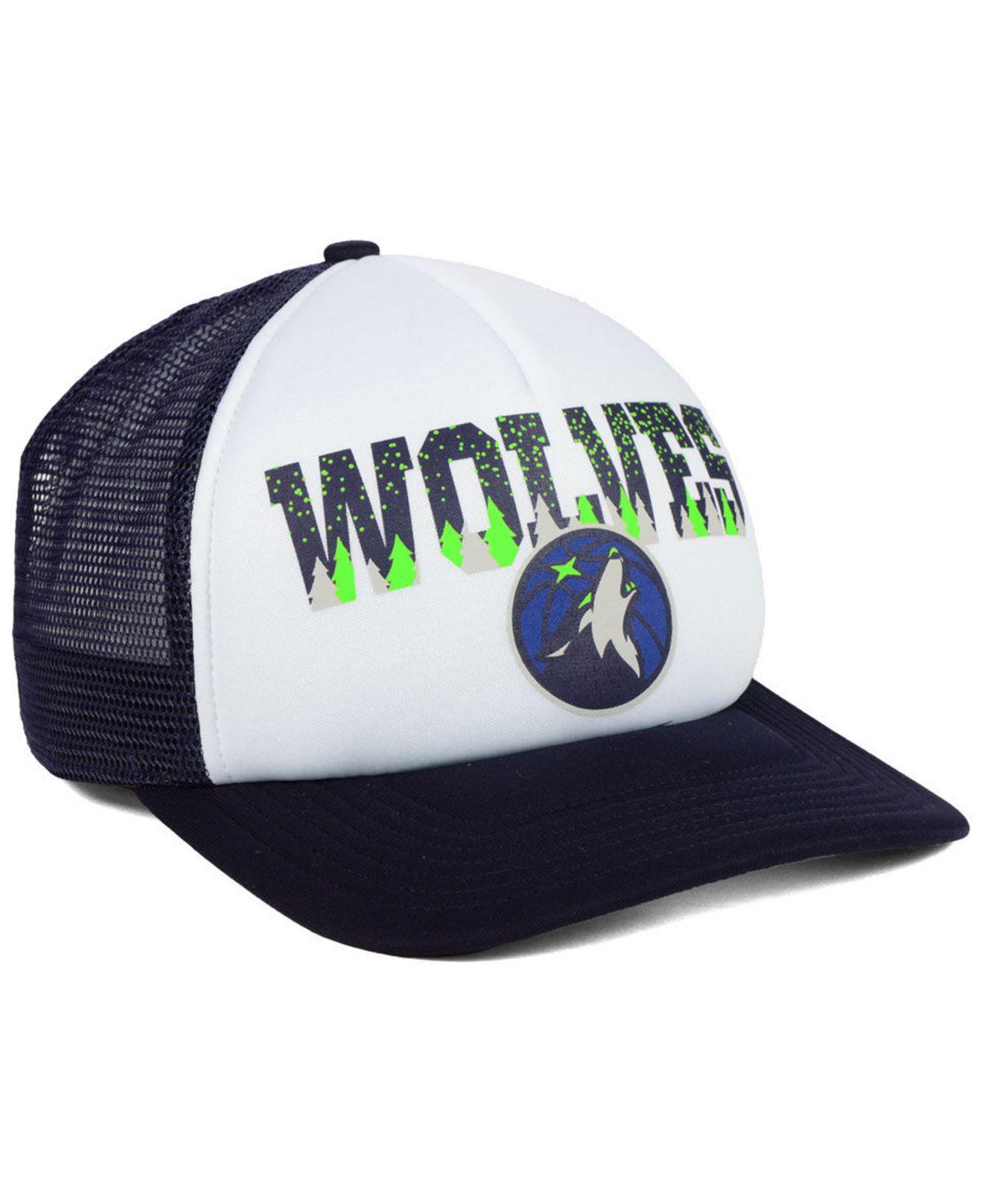 huge discount 9a50d 000e0 ... greece lyst 47 brand minnesota timberwolves region mesh mvp cap in blue  c89f8 0235a