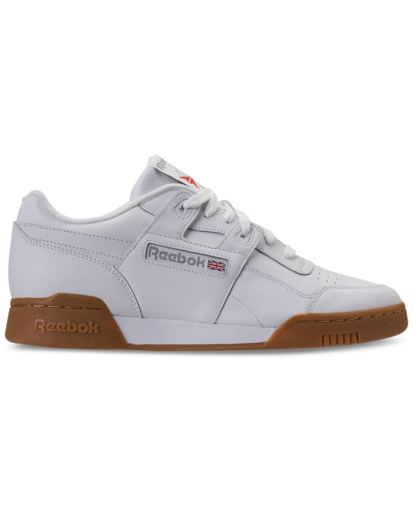 f04e19d8ae4f Lyst - Reebok Workout Plus Casual Sneakers From Finish Line in White for Men