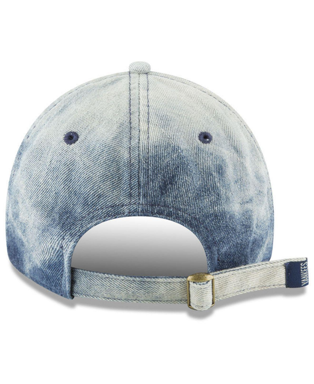 04662711ee50f ... greece lyst ktz new york yankees denim wash out 9twenty cap in blue for  men 41a84
