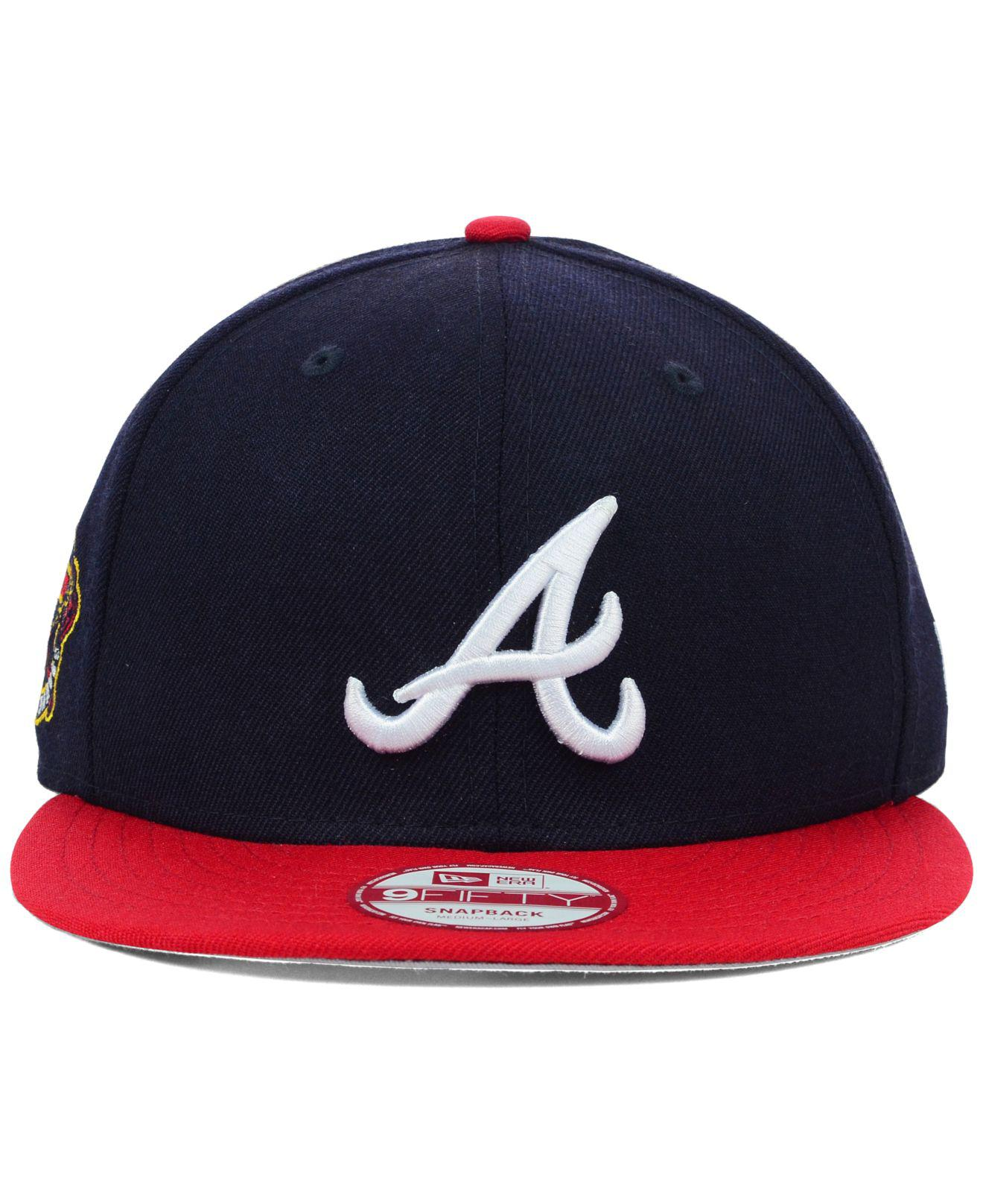 b2eda867b16 Lyst - KTZ Atlanta Braves Mlb 2 Tone Link 9fifty Snapback Cap in Blue for  Men