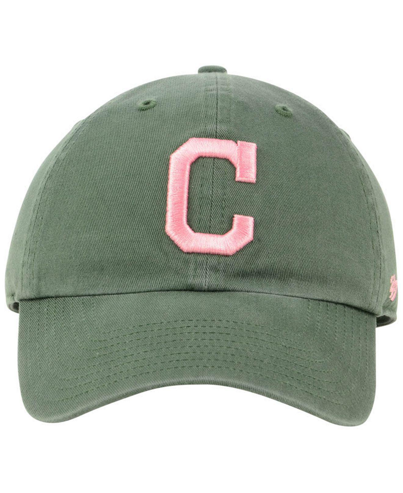 size 40 66143 9c554 ... official store lyst 47 brand cleveland indians moss pink clean up cap  in green for men