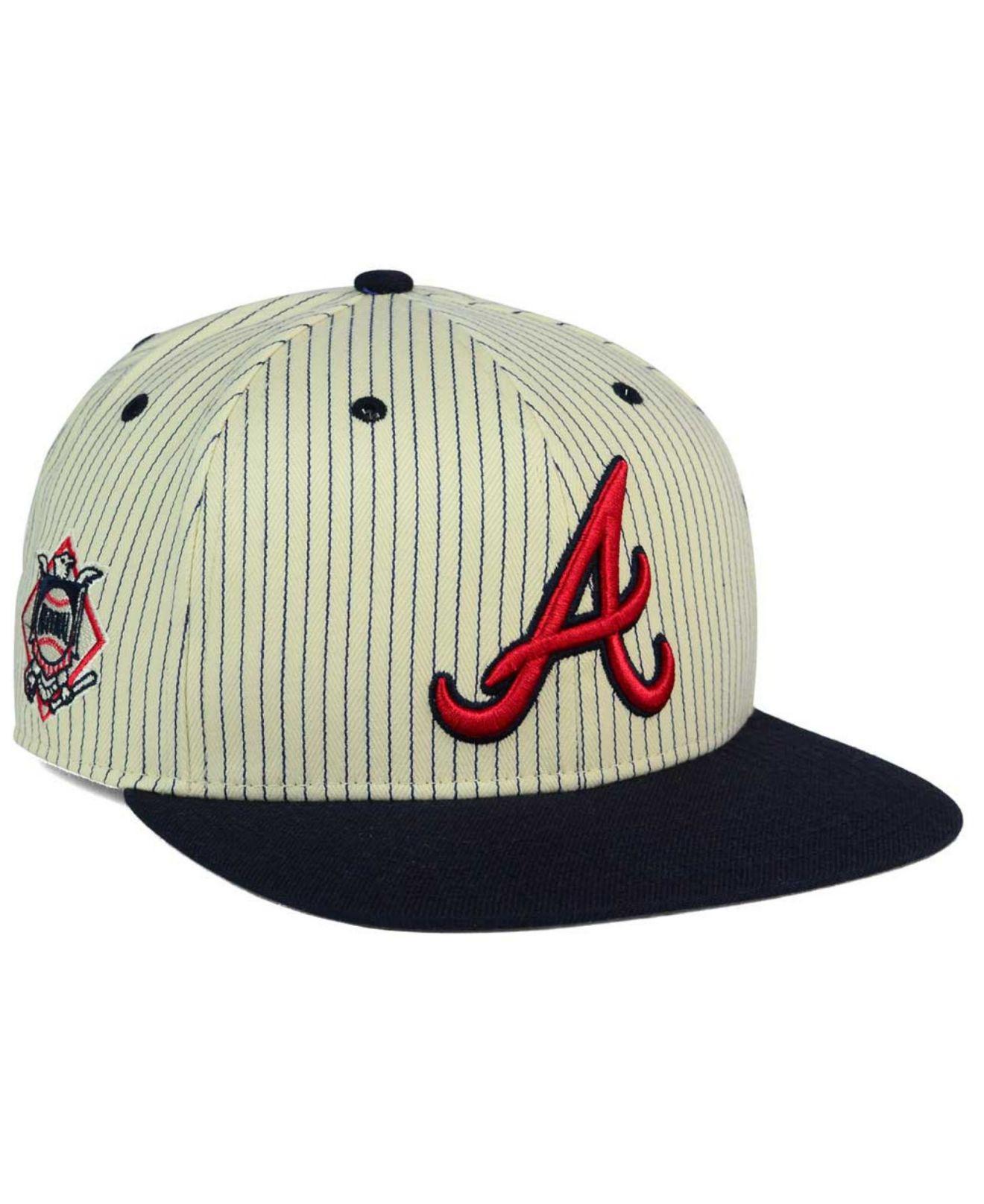 63b10b7f48a Lyst - 47 Brand Atlanta Braves Woodside Captain Snapback Cap in ...