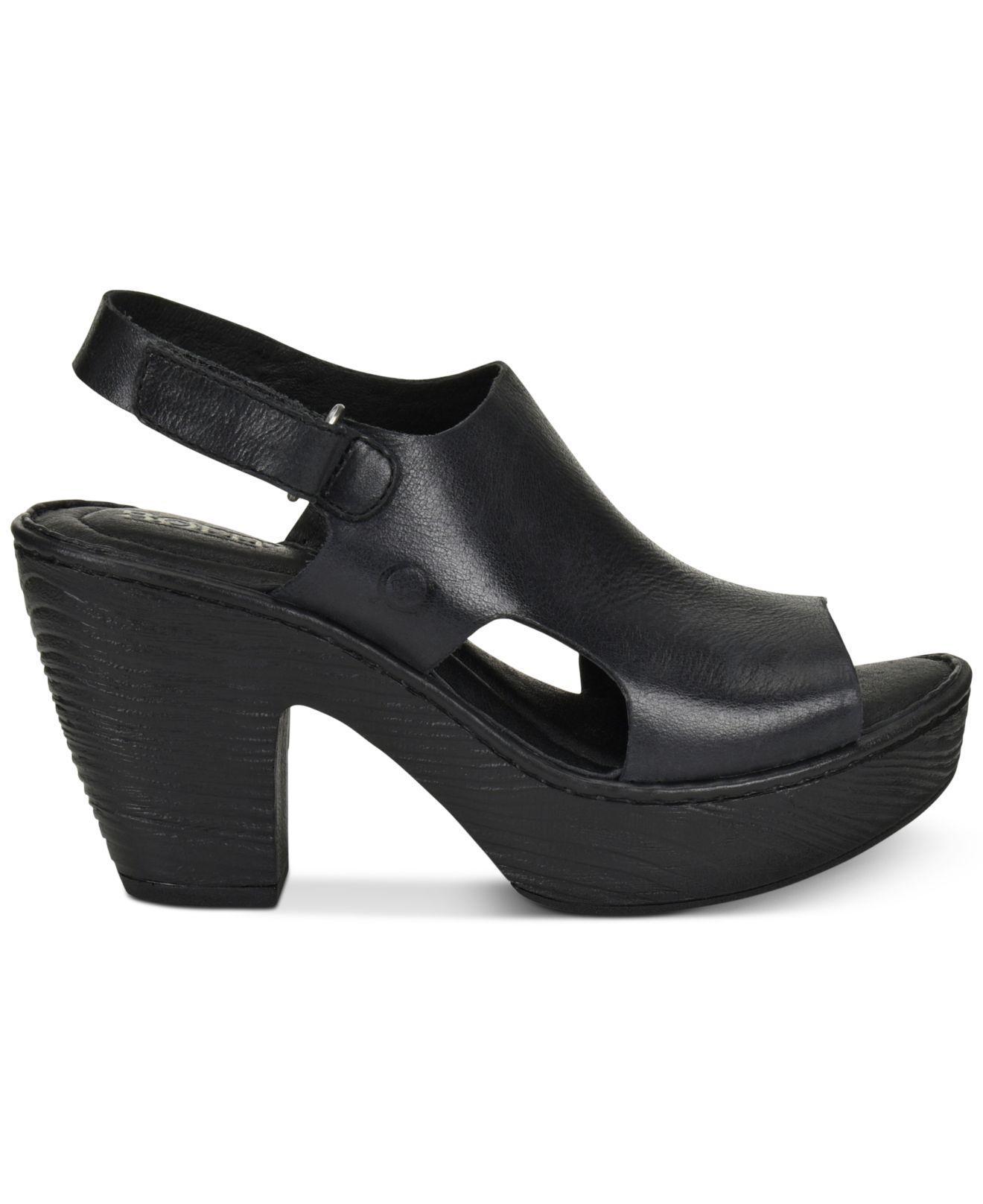 145c6a18959 Lyst - Born Ferlin Wedge Sandals in Black