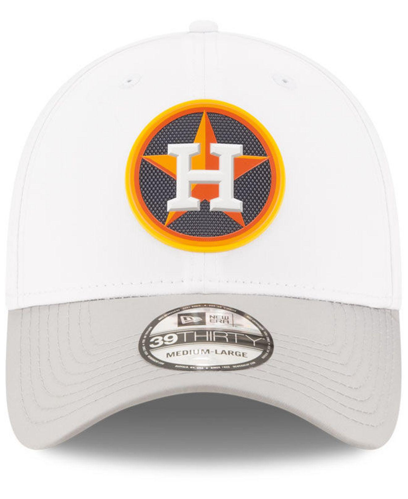 low priced aa48d 2ab52 ... canada lyst ktz houston astros white batting practice 39thirty cap in  white for men 3230a 939aa