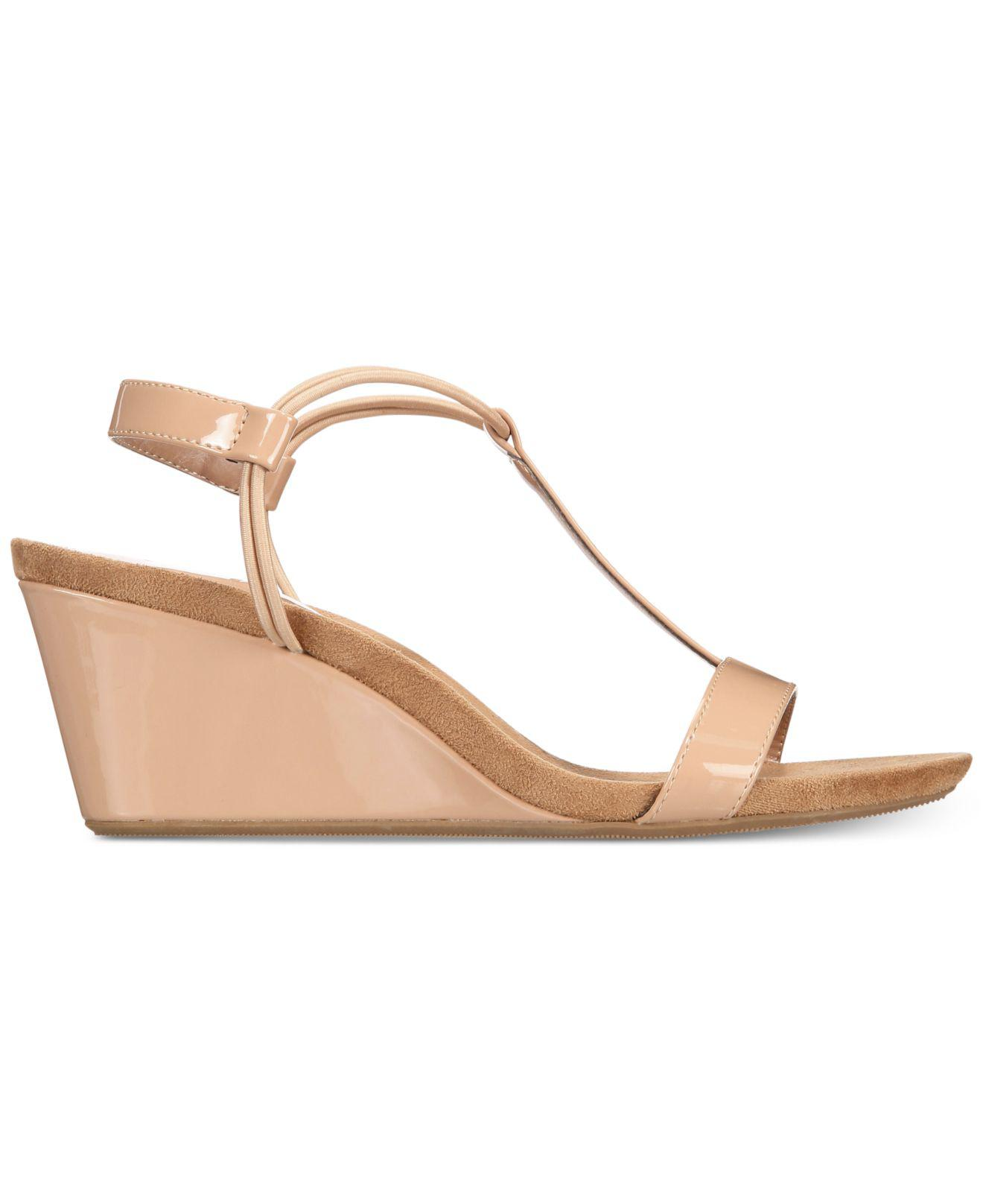 1fff997bf5 Style & Co. Mulan Wedge Sandals, Created For Macy's in Natural - Lyst