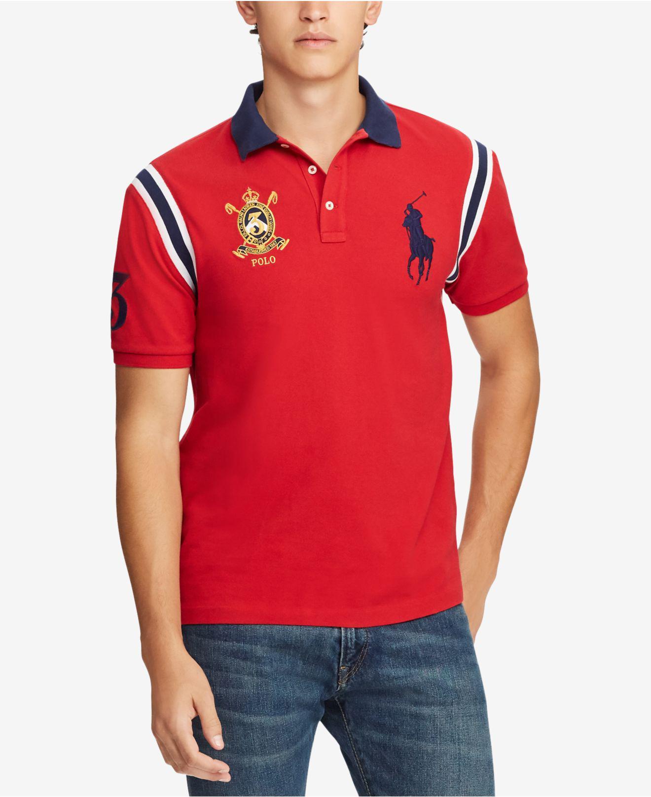 f28aeb9b Lyst - Polo Ralph Lauren Big Pony Vintage Crest Short-sleeve Polo ...