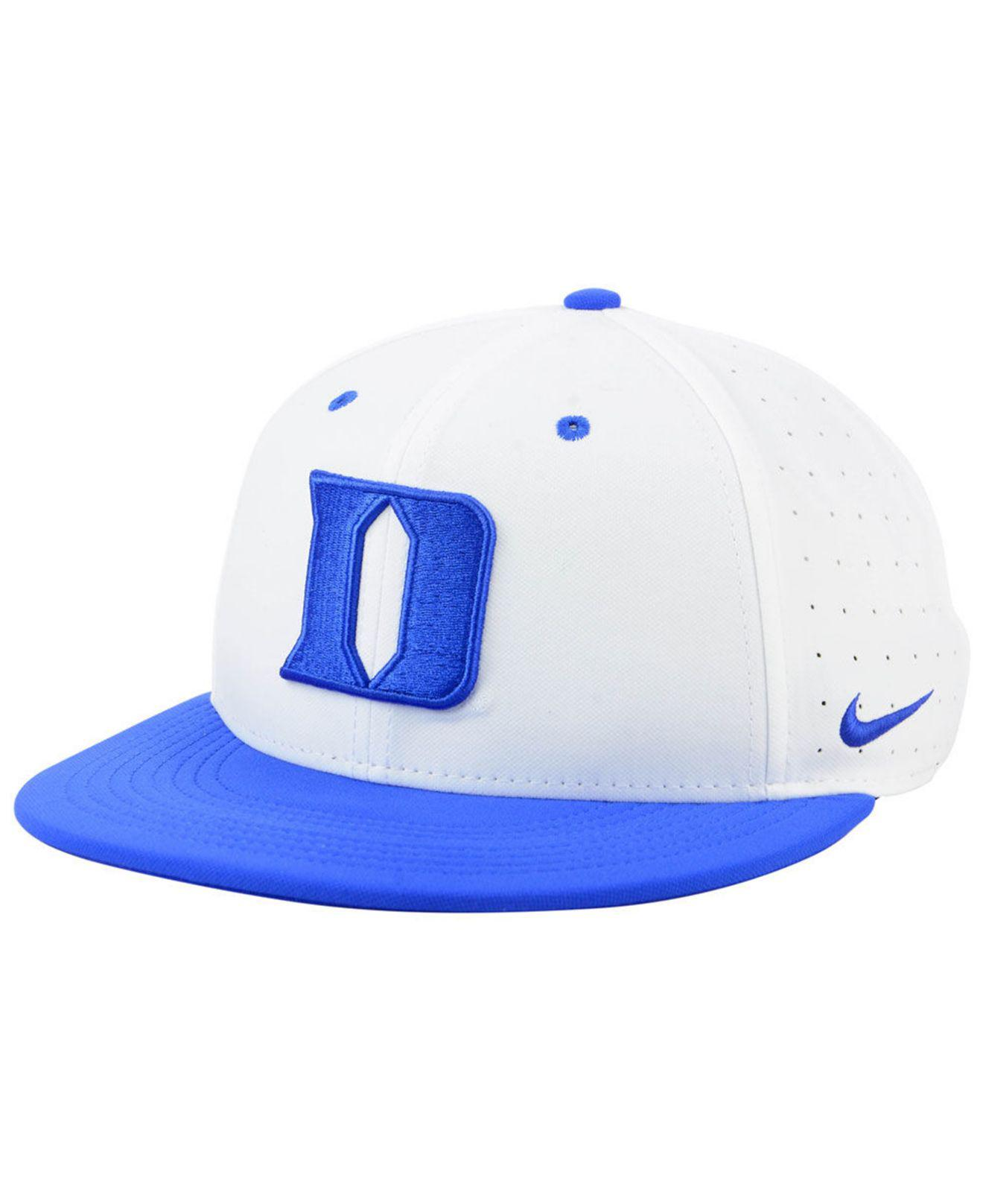 buy popular 1e10a 2dfc1 Nike. Men s Duke Blue Devils Aerobill True Fitted Baseball Cap