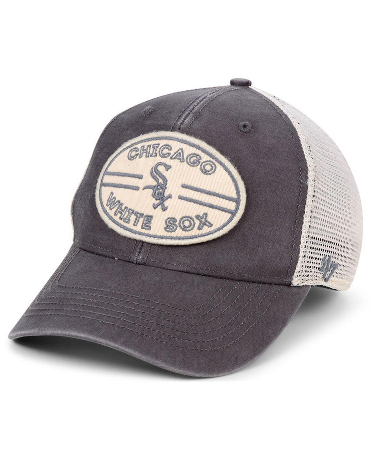 best authentic 12c22 53adc Lyst - 47 Brand Chicago White Sox Hudson Patch Trucker Mvp Cap in ...