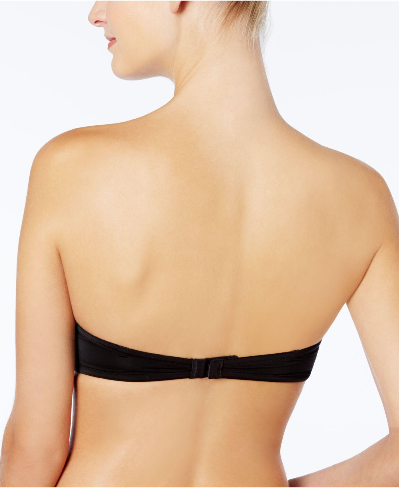 cecc757bfdb87 Lyst - Calvin Klein Naked Glamour Strapless Push Up Bra F3493 in Black