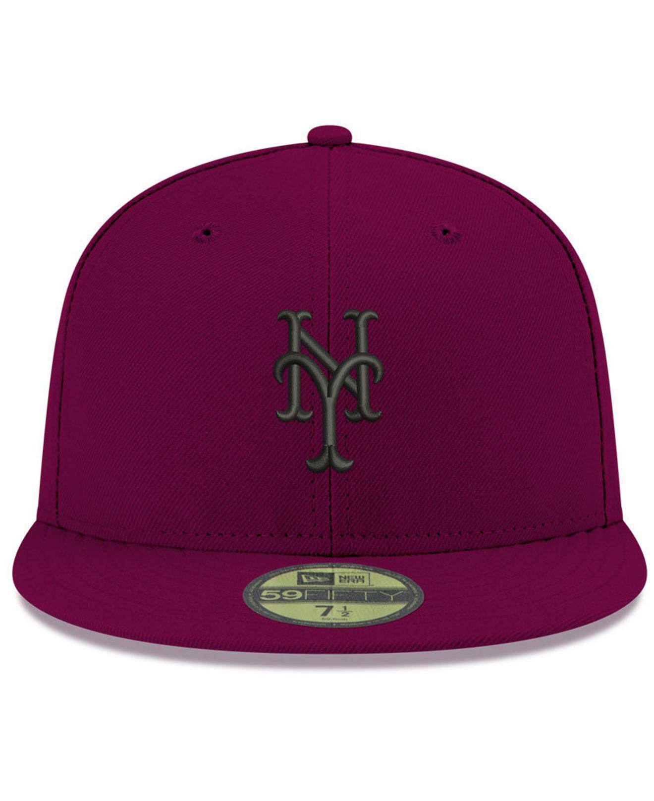 cheap for discount b5afd e6554 ... canada lyst ktz new york yankees reverse c dub 59fifty fitted cap in  purple for men