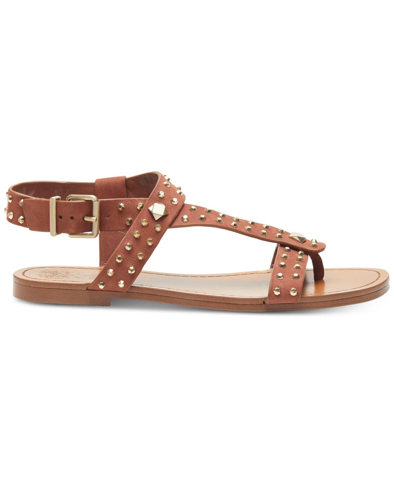cc716a081d9b Lyst - Vince Camuto Ravensa Flat Sandals in Brown