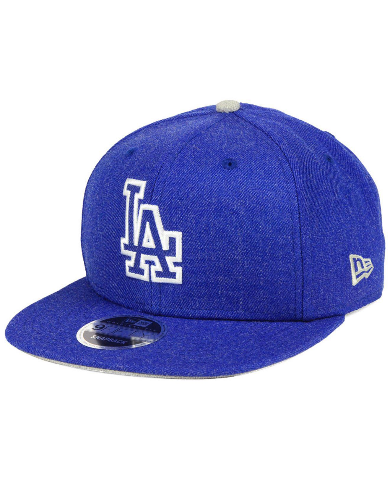 competitive price 4fd38 6384a ... canada ktz. mens blue los angeles dodgers heather hype 9fifty snapback  cap f2353 60672