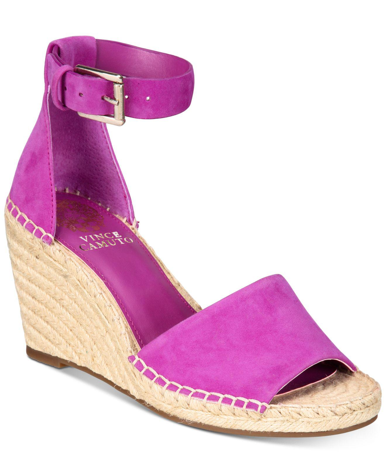 fc4babe981d4 Lyst - Vince Camuto Leera Espadrille Wedge Sandals in Pink