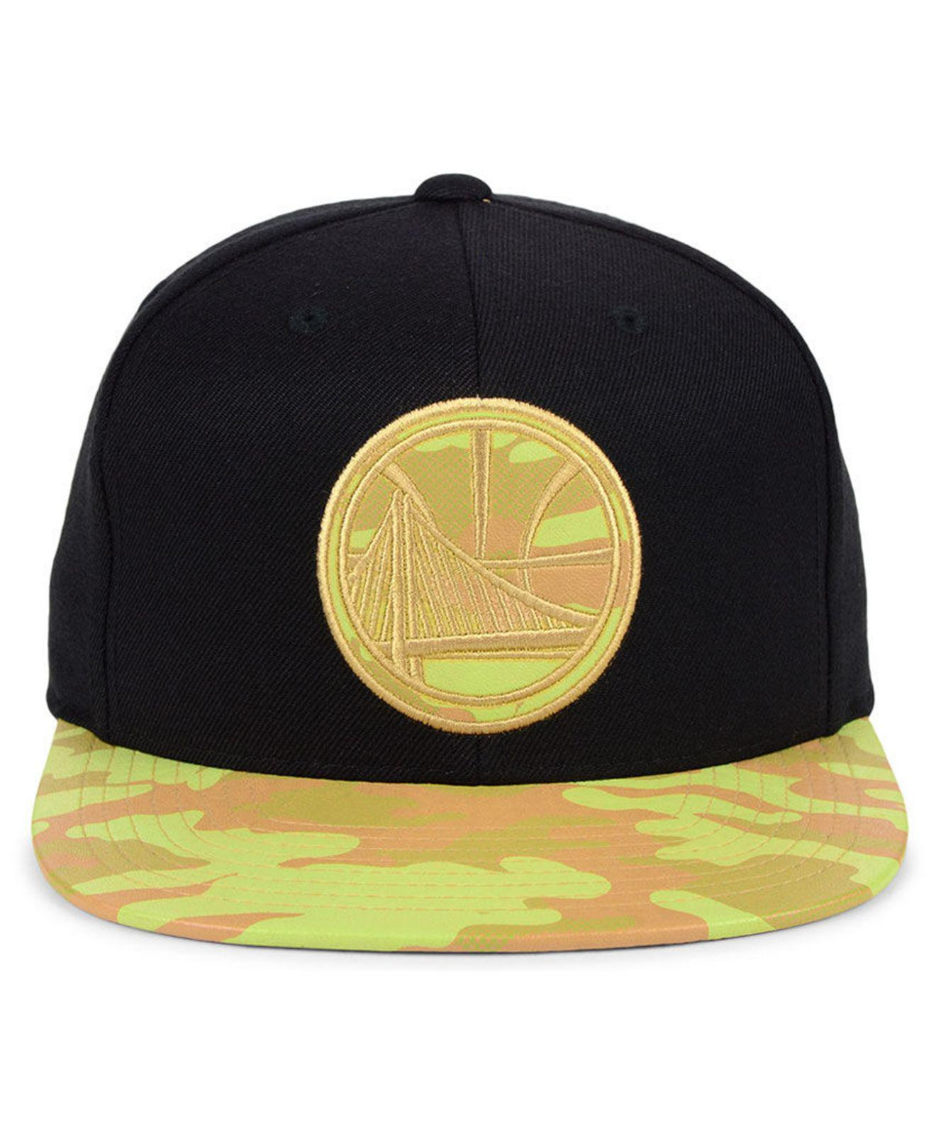 a9124611a37c07 ... where can i buy lyst mitchell ness golden state warriors natural camo  snapback cap in black
