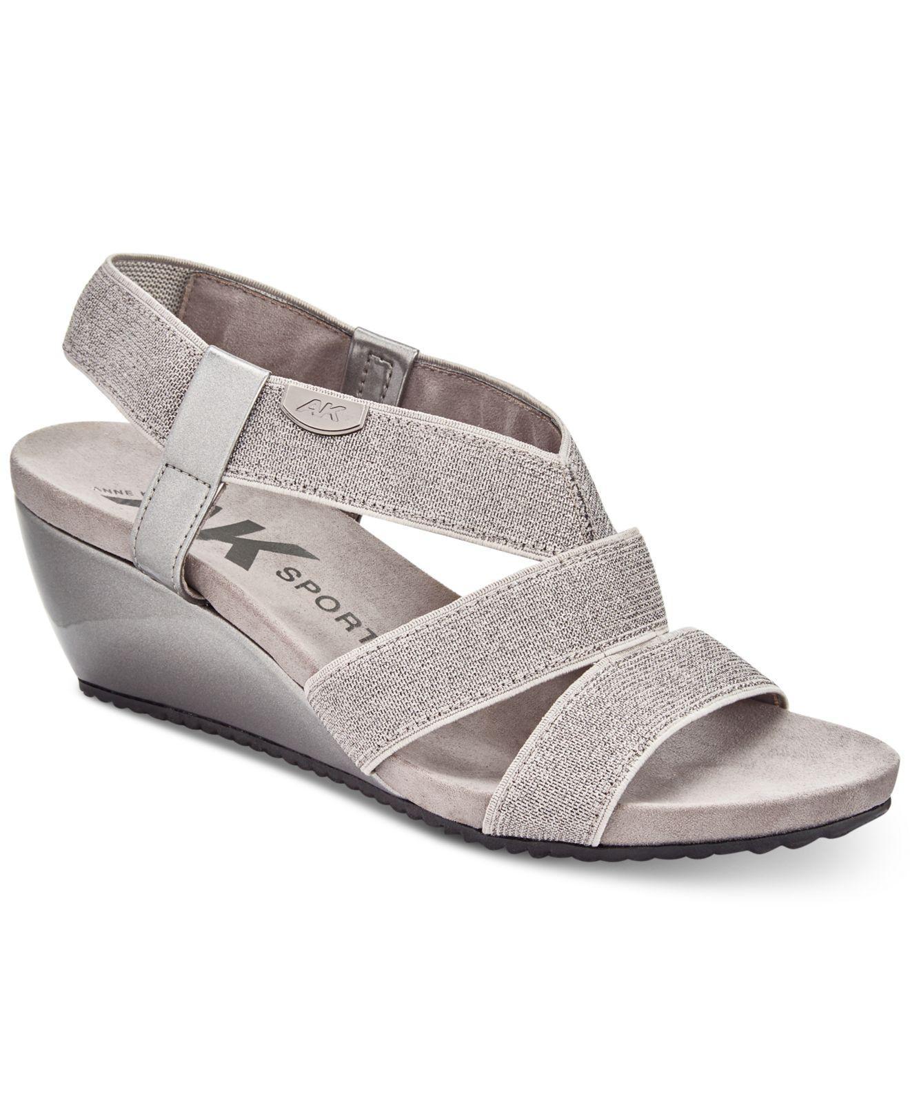 8a812181035 Lyst anne klein sport cabrini wedge sandals jpg 1320x1616 Siesta wedge anne  klein sport sandals
