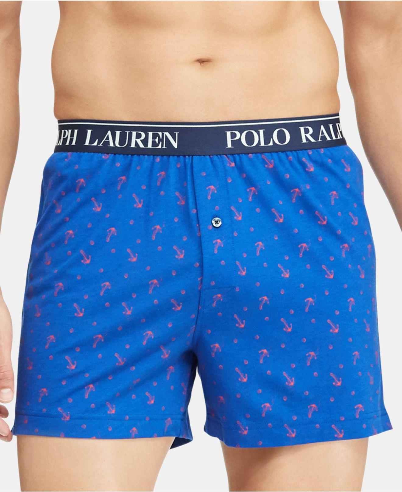 b8b108b1d48 Lyst - Polo Ralph Lauren Knit Boxers in Blue for Men