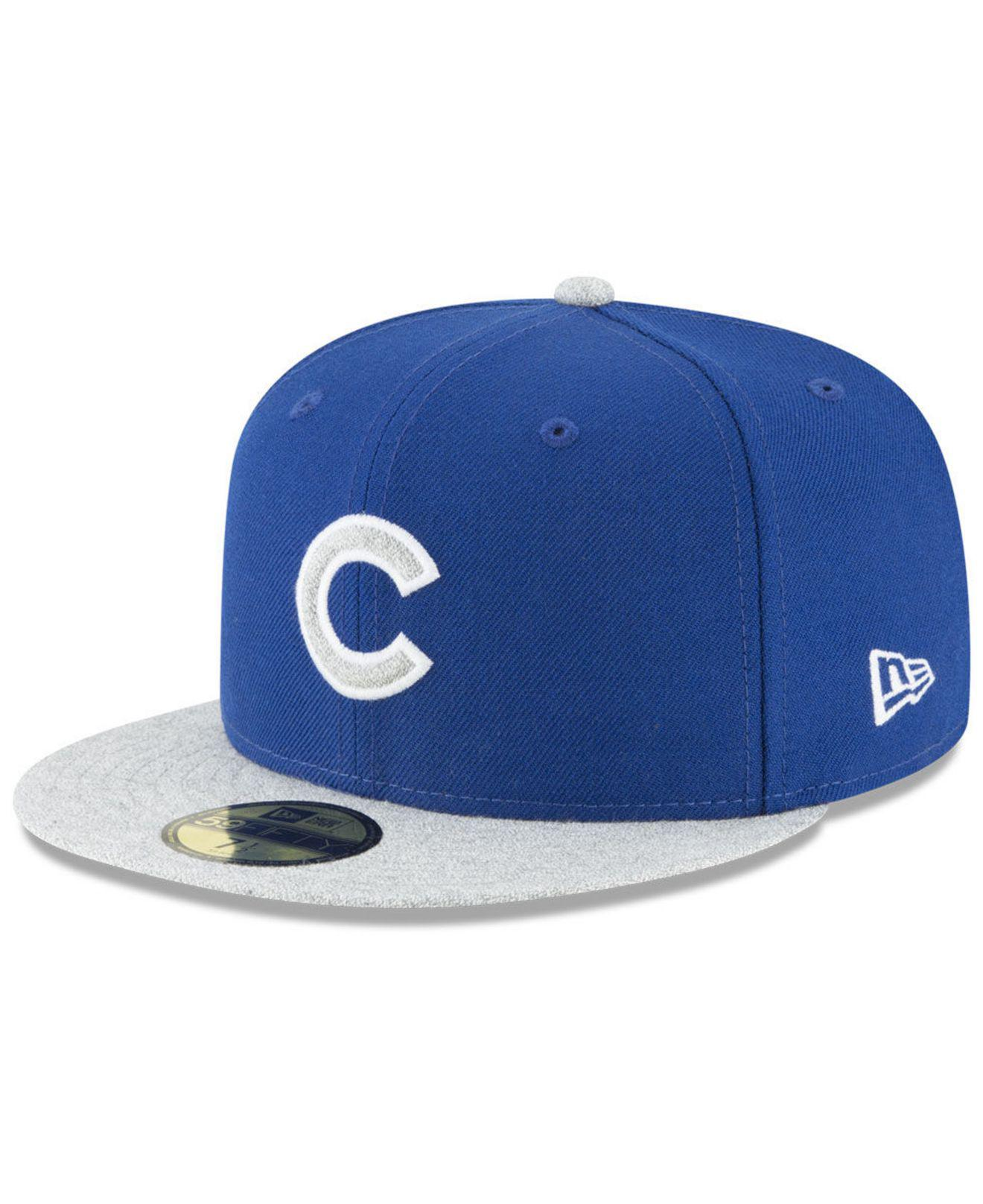 promo code 5353b bf682 KTZ. Men s Blue Chicago Cubs Pop Color 59fifty Fitted Cap