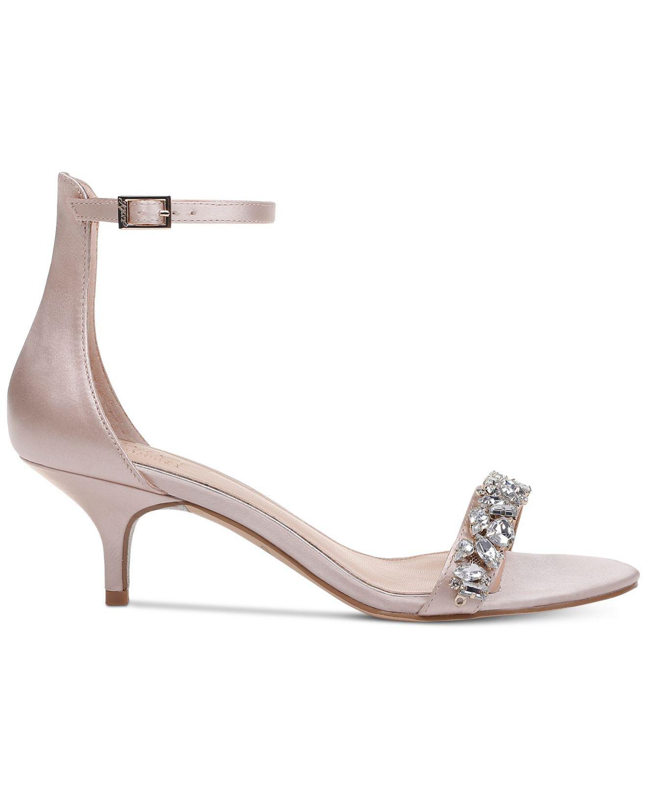 45bcd64e31f Lyst - Badgley Mischka Dash Kitten-heel Evening Sandals