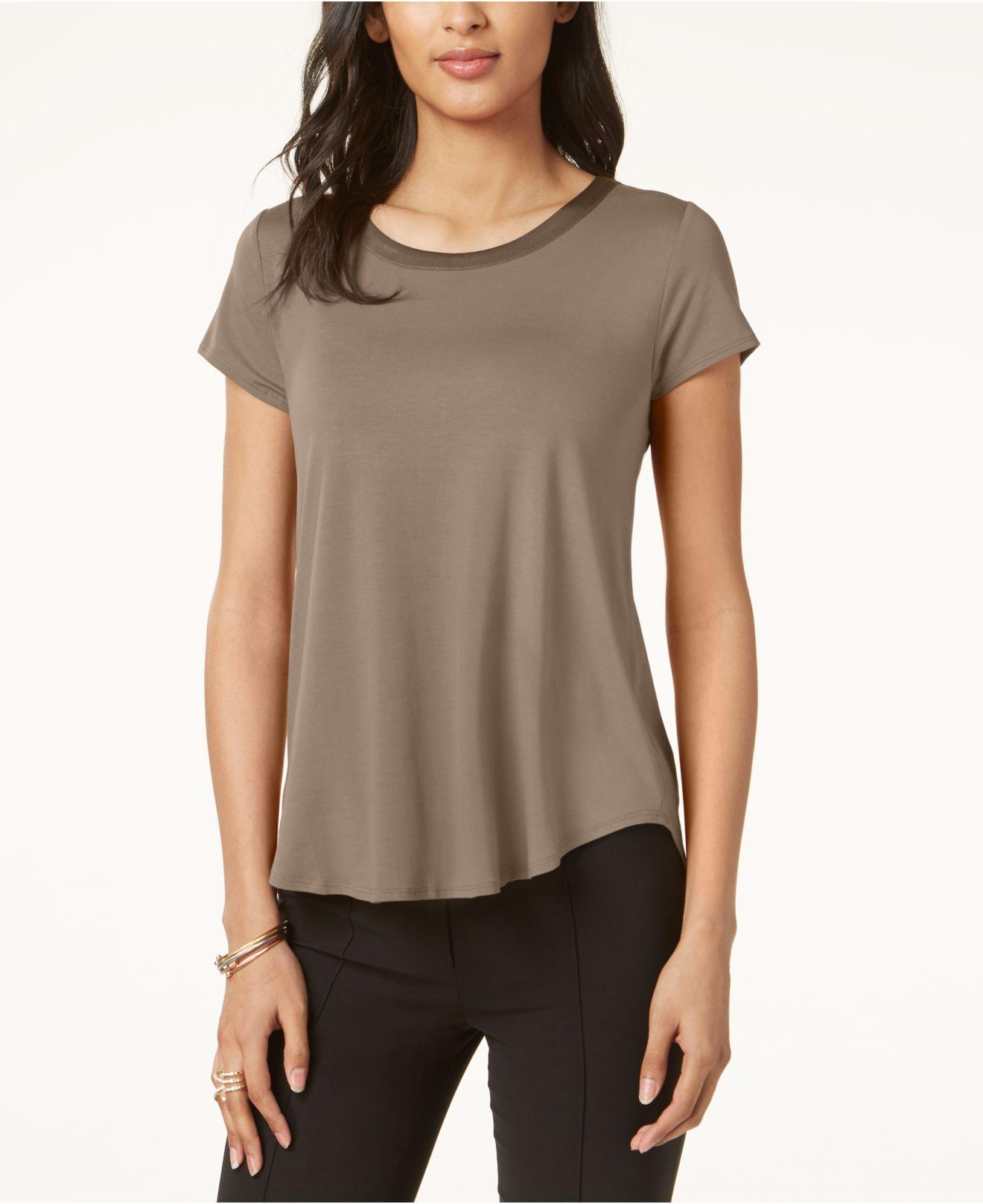 69596ae3a Alfani. Women s Satin-trim High-low T-shirt