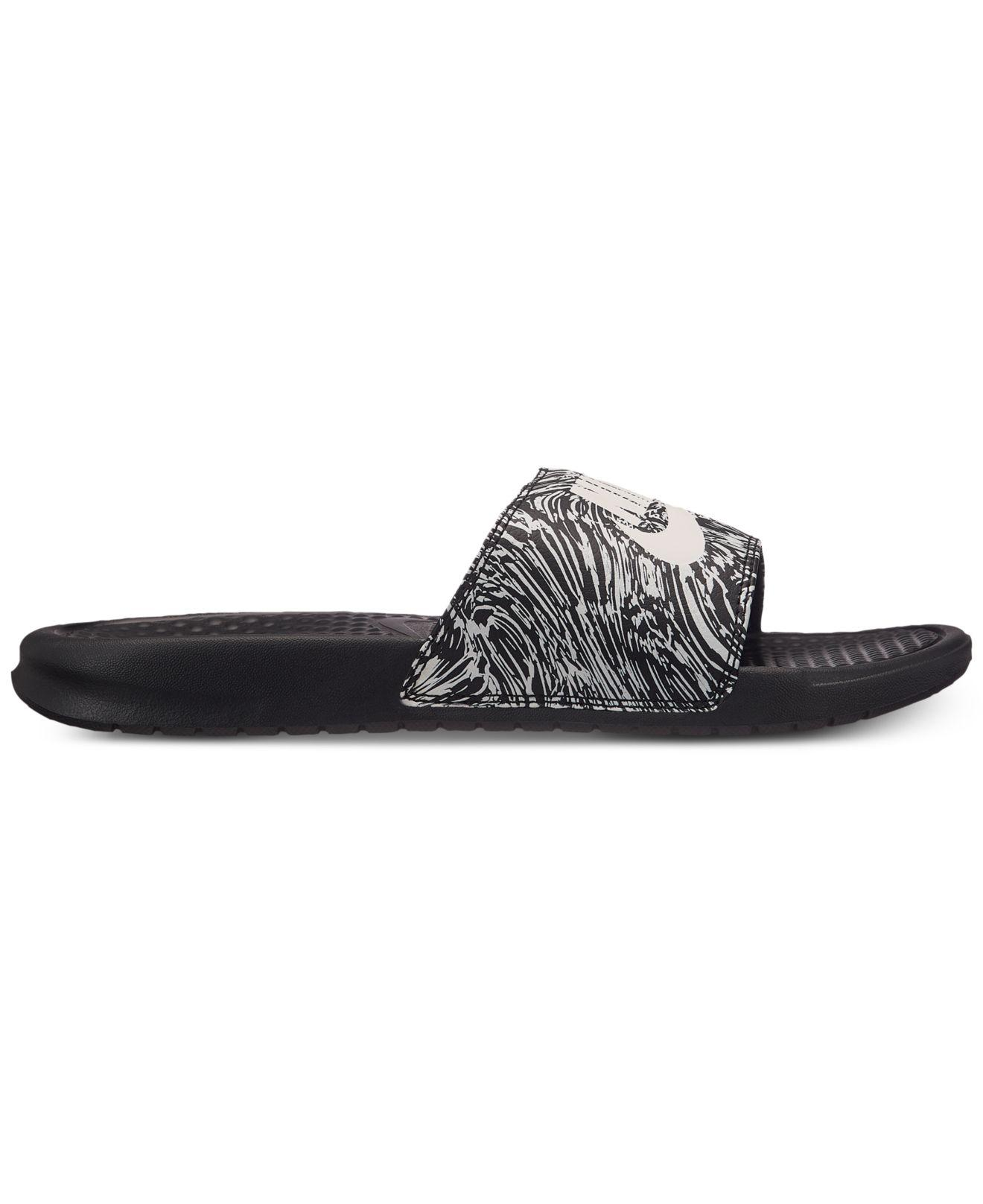 Nike Benassi JDI Printed Faux Leather Slides discount shopping online explore cheap online clearance wide range of bZJwh