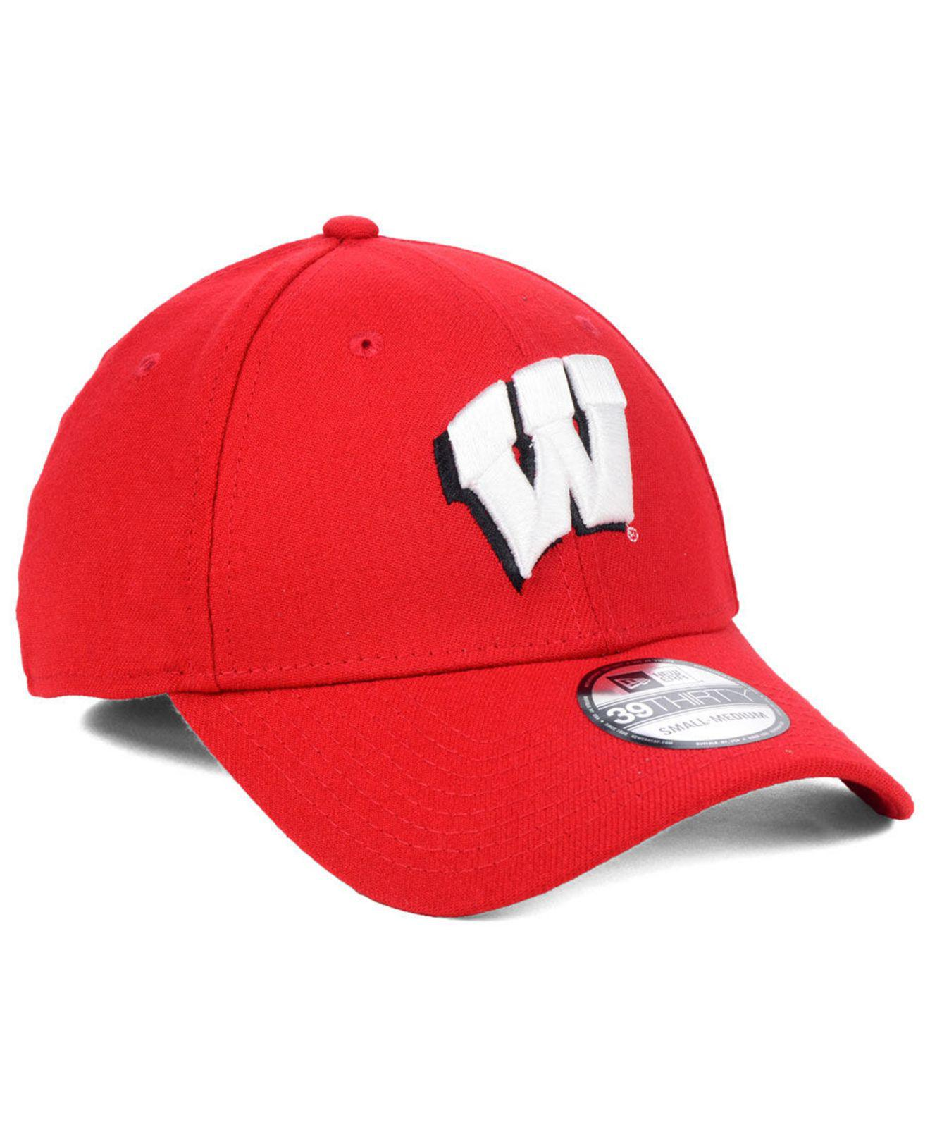 the best attitude 2a6ed dd87d KTZ - Red Wisconsin Badgers College Classic 39thirty Cap for Men - Lyst.  View fullscreen