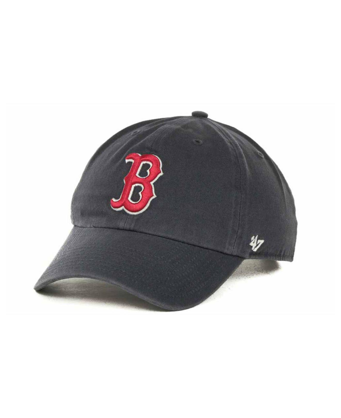 47 brand. mens blue boston red sox clean up hat