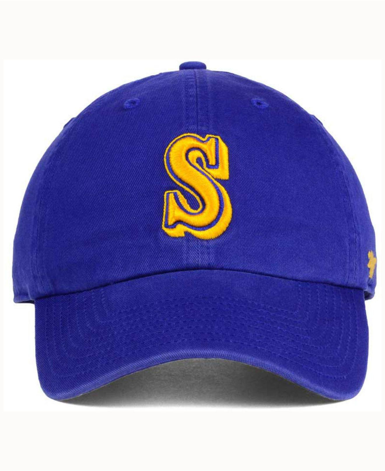 uk availability 54fc1 c1aa6 Lyst - 47 Brand Seattle Mariners Cooperstown Clean Up Cap in Blue for Men