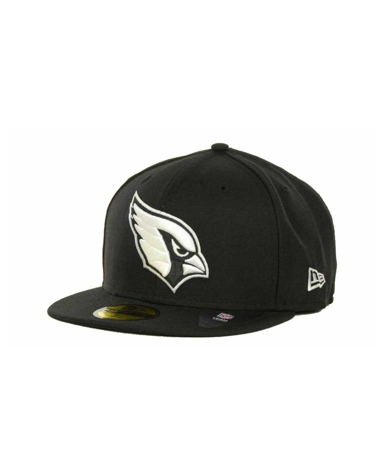 purchase cheap b1715 1ed87 KTZ. Men s Black Arizona Cardinals 59fifty Cap