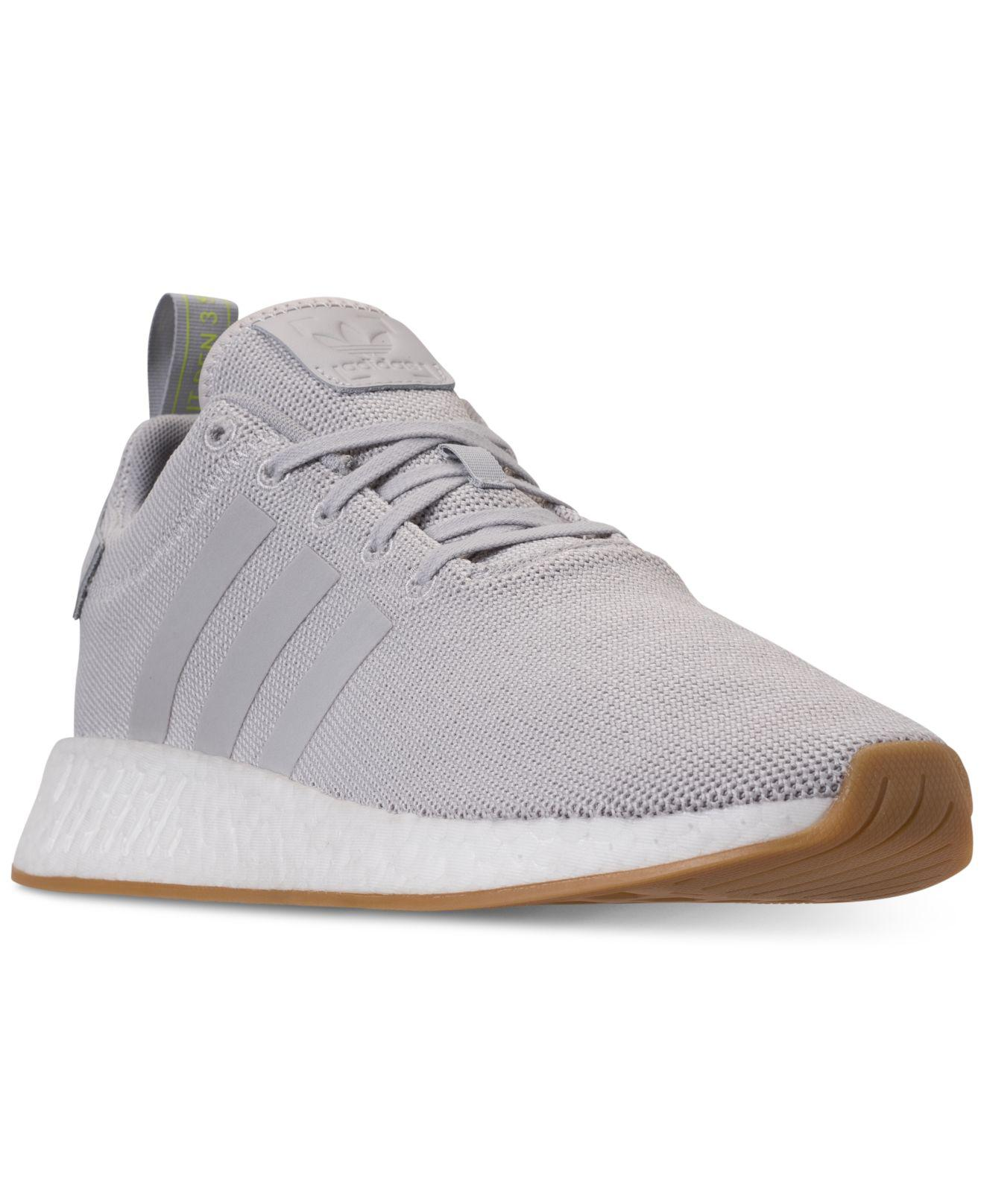 b9da6aee2 Lyst - adidas Nmd R2 Casual Sneakers From Finish Line in Gray for Men