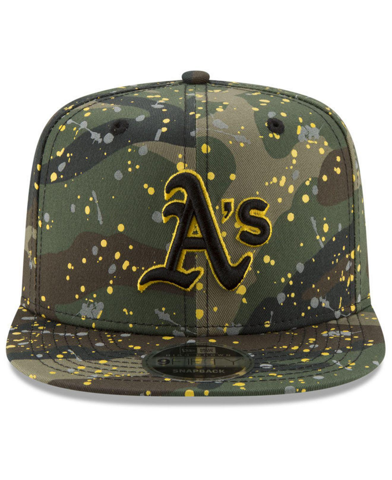 online retailer 109fe ac0b7 france oakland athletics new era mlb gold snake 9fifty snapback cap lids  dbdb7 f67ed  shop lyst ktz oakland athletics camo spec 9fifty snapback cap  in green ...