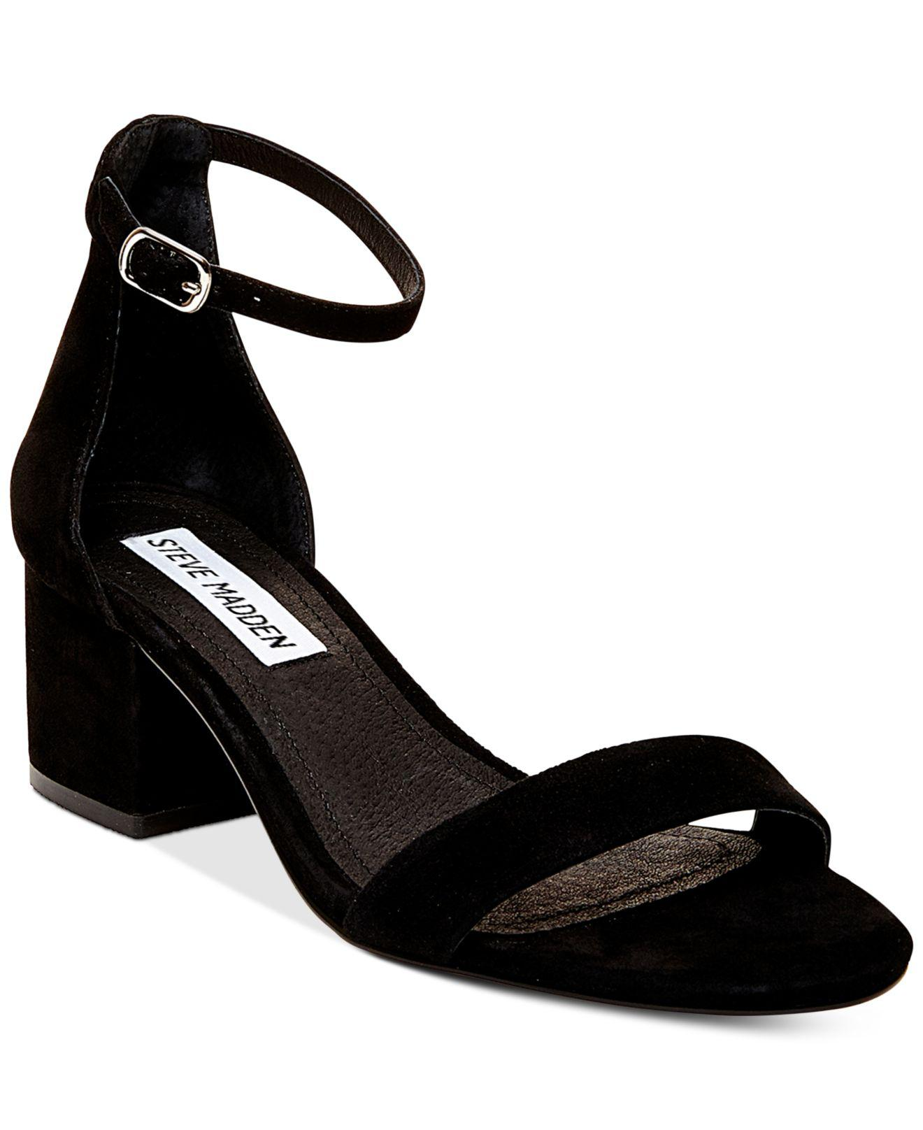4c8163715aa7 ... Black Irenee Two-piece Block-heel Sandals - Lyst. View fullscreen