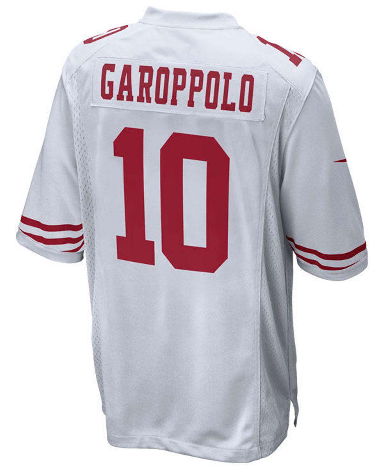 e2d29046fa5 Nike Jimmy Garoppolo San Francisco 49ers Game Jersey in White for ...